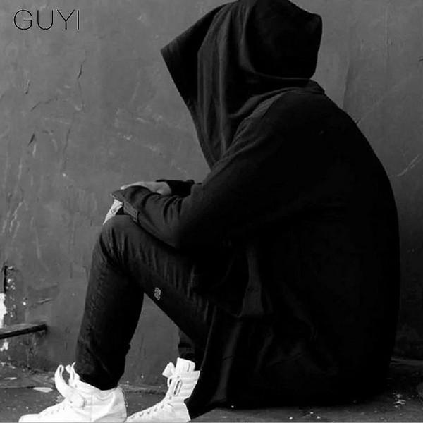 Assistente Man Guyi Preto Assassins Creed Escuridão Hat Trench homens encapuzados Sólidos Long Cardigan Moda Filme Gothic Cerca Coats