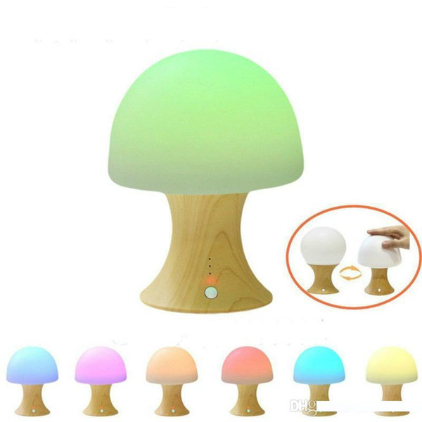 Silicone Mushroom Design Lamp LED Bedside Lamp Warm Lights Touch Table Night Light Cute Colors New Arrival 33lb O1