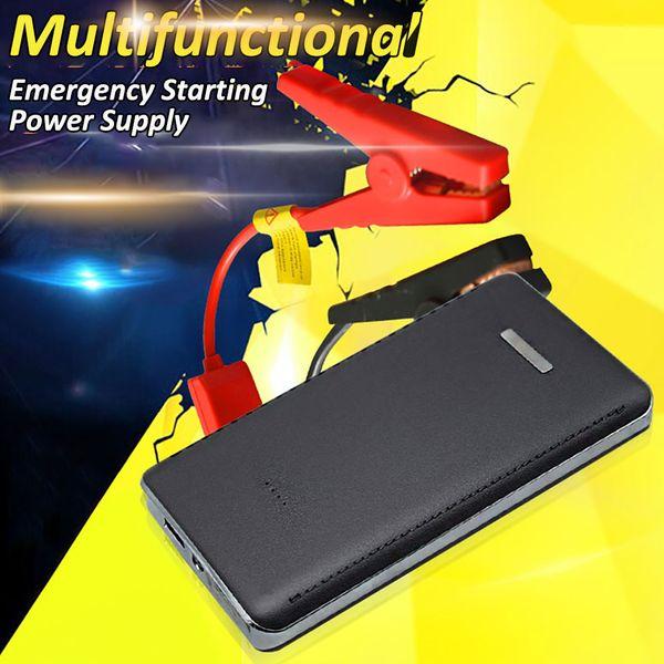 12V 8000mAh Mini Portable multifonction voiture Jump démarrage d'alimentation Chargeur de batterie Chargeur de démarrage d'urgence Dispositif de départ