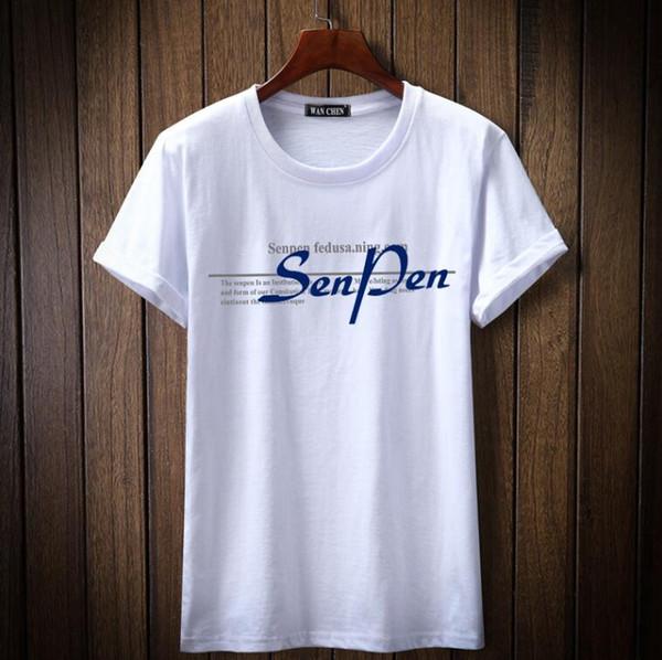 T-shirt L001 da uomo casual a maniche corte in cotone casual a maniche corte con stampa a maniche corte