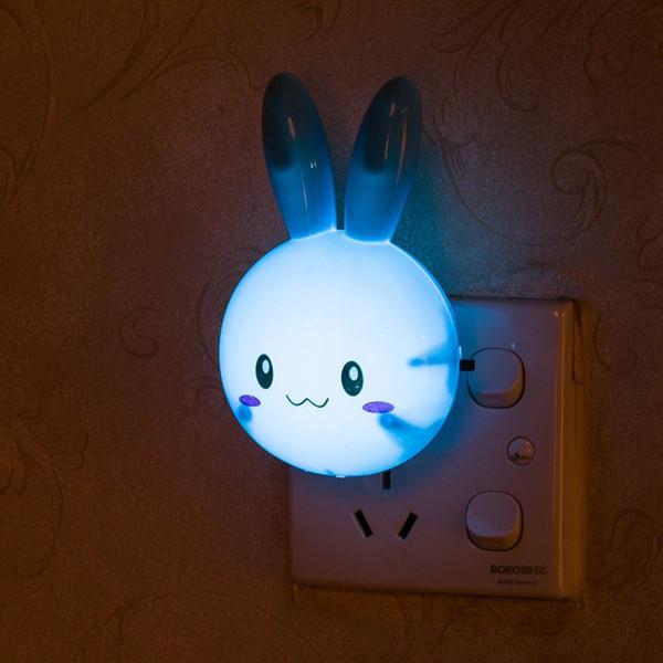 Çocuk / Bebek / Çocuk Odası Başucu Lambası İçin / KAPAMA Duvar Gece Lambası ABD Plug Hediyeler ÜZERİNE LED Yenilik Işık Karikatür Tavşan Anahtarı