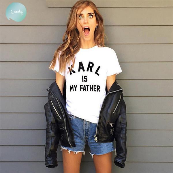 Camiseta New Summer Fashion Harakar Is My Fathers Rodada Impresso Manga Curta Shirt, Womans Branco Com Collar