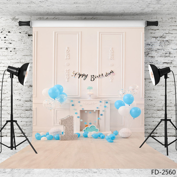 balloons indoor vinyl photography background for photo shoot 5X7ft cloth backdrop for children baby birthday photo shootings