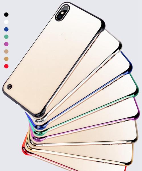 아이폰 11 프로 X XR X가 최대 7 8 플러스 보호 상자를위한 새로운 경계선 지우기 전화의 경우는 초박막 안티 낙하 충격 방지 돌아 가기 쉘