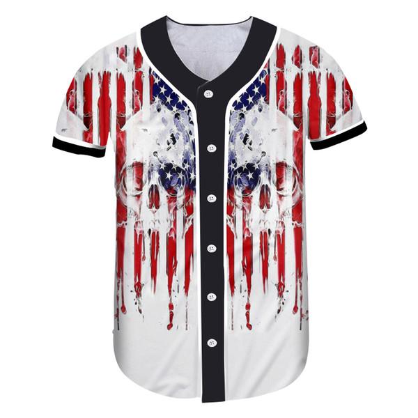 Crânio da bandeira americana