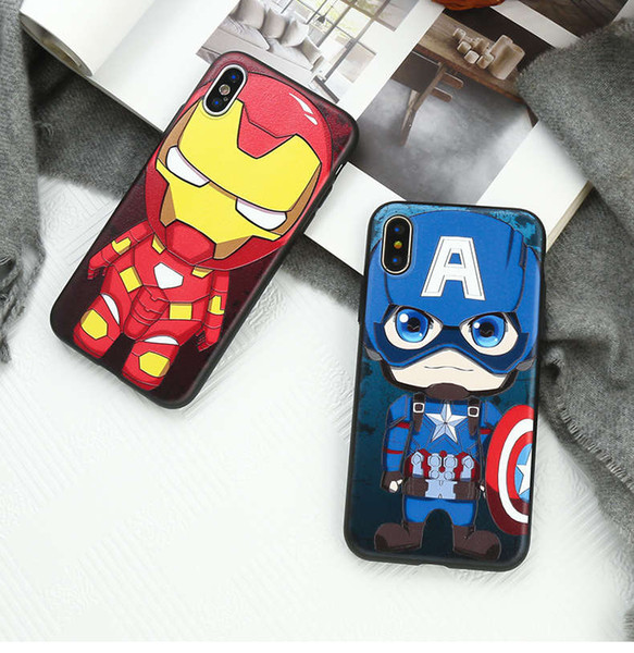 Apple xs mobile phone shell silicone iphone8plus all-inclusive shatter-resistant 7plus tide brand hero 6s