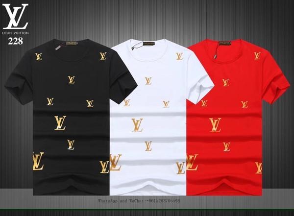 Moda de verano Nuevo Modle Man Camiseta de manga corta para hombres Versión coreana Slim Men's Wear Clothes0228