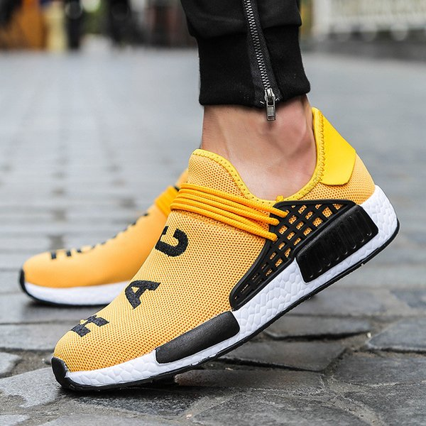 Human Race Summer Casual Men Shoes Plus Size 39-47 Size Fashion Letter Print Men's Shoes dgh78