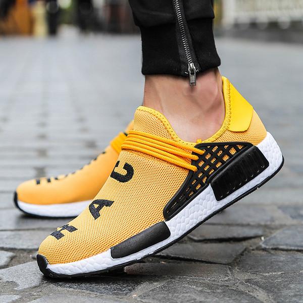 Race humaine d'été Hommes Casual Shoes Taille Plus 39-47 Letter Mode d'impression Chaussures Hommes dgh78