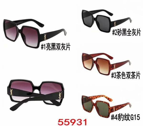 2019 Verano Nuevas gafas de sol de moda de Europa y EE. UU. Las últimas gafas de sol multicolores femeninas populares de moda para hombre al por mayor Envío gratuito