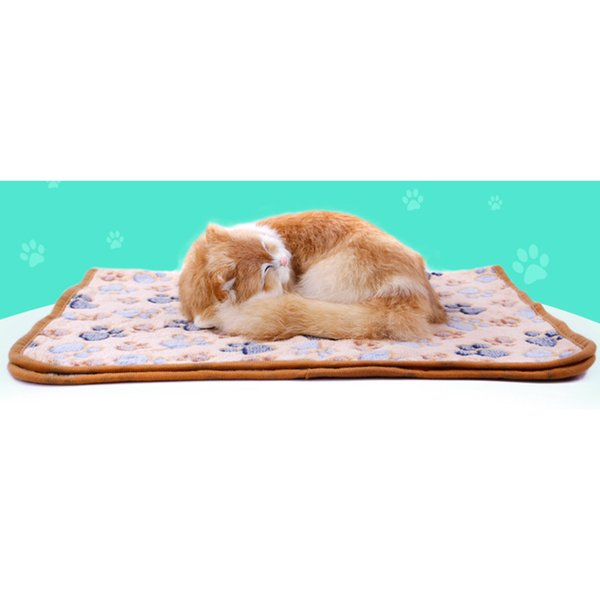 Estrella Thicker Coral Fleece Soft Blanket Cats Kittens Rectangle Bed Accessories Pet Throws Dog Mats Free Shipping