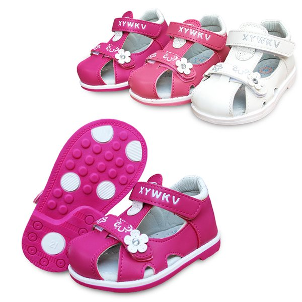 New Fashion 1pair Kids Orthopedic Shoes Arch Support Girl Pu Leather Sandals Children Shoes+inner Cm Q190601