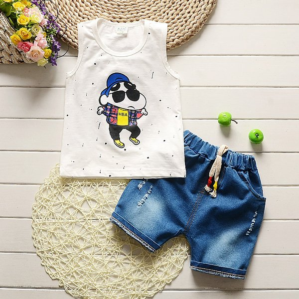 good quality summer baby boys clothing sets kids cartoon cotton stylish clothes boys clothes set 2 pcs T-shirt+shorts kids suit