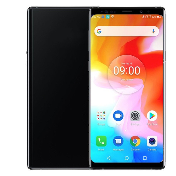 top popular Goophone Note9 Fingerprint Cell Phones Shown 4g LTE GSM 16.0MP MTK6592 Octa Core 2560*1440 Android 9.0 Unlocked 6.4inch GPS Smartphones 2019