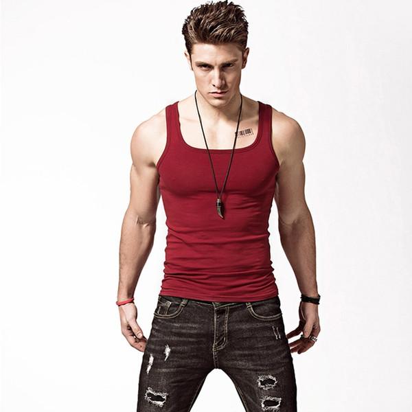 2018 Vêtements Casual Gilet Hommes Débardeurs Été Culturel Mâle Sans Manches Gilet Gymclothing fitness Hommes Gilets # 733987