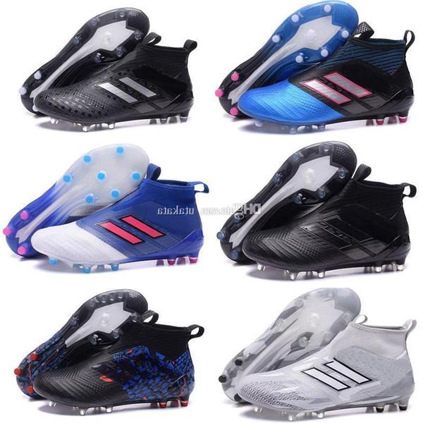 Erkekler Yüksek Üstleri Futbol Cleats X 16 Purechaos Fg Messi Pureagility Futbol Boots Ace 17 Purecontrol 17.1 Saf Kontrol Kapalı Futbol Ayakkabıları Copa