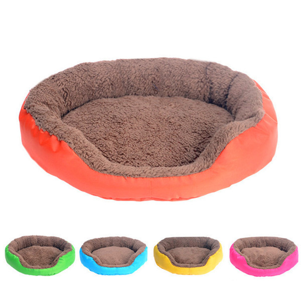 top popular 4 Colors Pet Dog Bed Winter Warm Dog House For Small Large Dogs Soft Pet Nest Kennel Cat Sofa Mat Animals Pad Pet Supplies S M L 2020