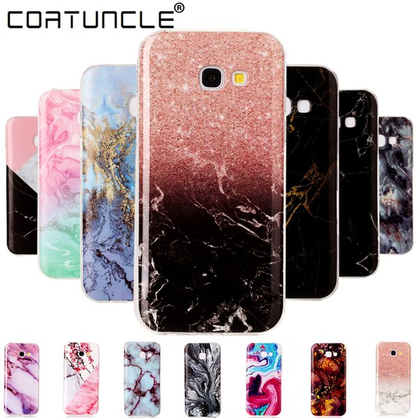 Marble Stone Case On For Coque Samsung Galaxy A3 Soft Silicone Tpu Back Cover Phone Case Sfor Fundas Samsung A5 Case