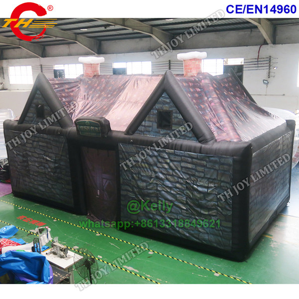 best selling 10x5x5mH giant inflatable Irish pub inflatable bar tent for sale commercial inflatable event tents customized big bouncy inflate air tents