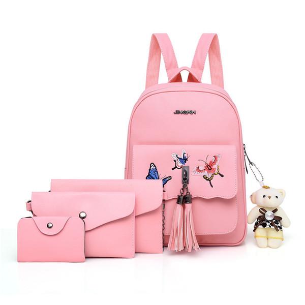 Fashion Girl School Bags For Teenagers backpack set women shoulder waterproof