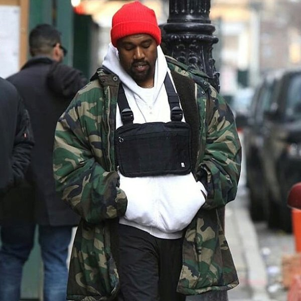 Mode Chest Rig Männer Hip Hop Streetwear Lässige Funktions Taktische Brusttasche Kanye West Cool Boy Cross Umhängetasche c22