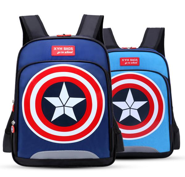 Kids Bag Captain America Waterproof Orthopedic Backpack School Bags for Boys Cartoon Schoolbag Ultralight Kids Satchel Grade 1-6