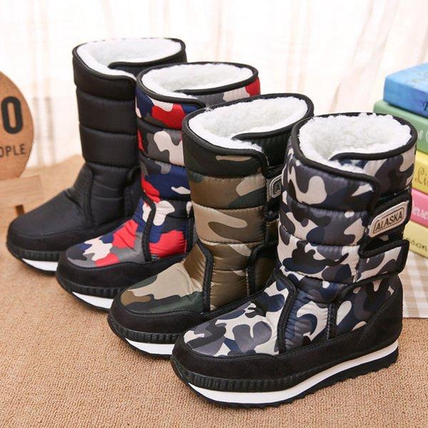 Zapatos de los niños de los muchachos Botas cargadores de la nieve deporte de las muchachas de los niños para los muchachos a zapatillas de deporte del cuero de zapatos para niños Botas de invierno 2019 niños CJ191213