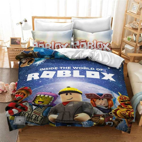 3d Roblox Game Printed Bedding Sets Bed Linen Cartoon Adult Kids