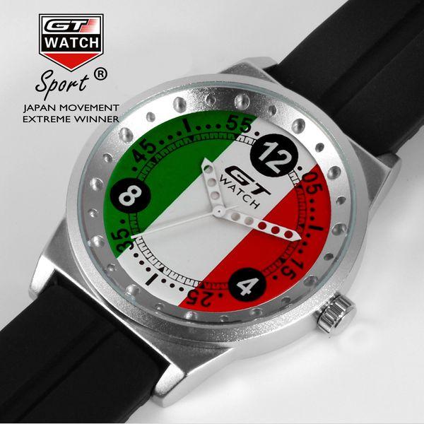 Mode Racing Uhren für Männer Schwarz Silikon Racing Flag Casual Quarz Armbanduhr Großes Gesicht Sportuhr für Junge Männer