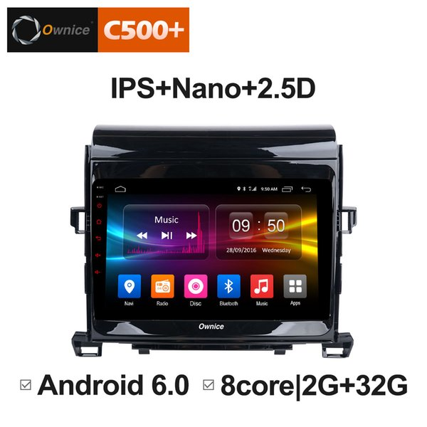 "8"" 2.5D Nano IPS Screen Android Octa Core/4G LTE Car Media Player With GPS RDS Radio/Bluetooth For Toyota Alphard 2011-2012 #5846"