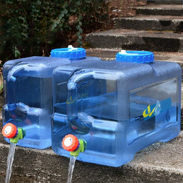 New 22L PC Water Barrel Bucket Water Bottle Square Outdoor Hiking Picnic Camping Accessories Container Bucket