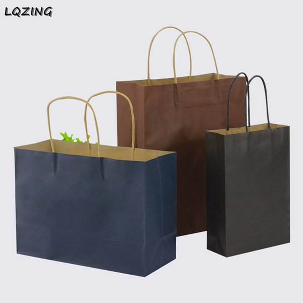 large size reusable christmas shopping bag personalized craft kraft clothes wrapping bags handle garment bag package