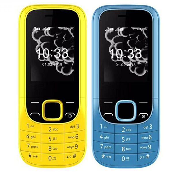"top popular Dual sim card 2320C mini Mobile phone 1.77"" QCIF Screen camera 64G RAM 32G ROM singal-core GSM Cellphone men women phone 2020"