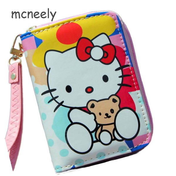 e3aa388c2 New Arrival HELLO KITTY Wallet Short Women Wallets Zipper Purse Fashion  Girls Wallets Cute Coin Purse