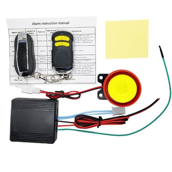 Nuovo sistema di allarme di protezione del motorino della bici del motore Universial doppio allarme remoto del motociclo di controllo di sicurezza del motociclo sistema di furto