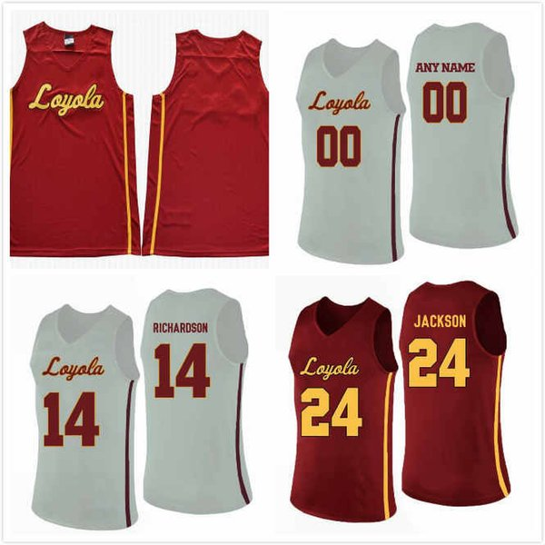 Benutzerdefinierte Loyola Ramblers Braden Norris Trikot 14 Tate Hall 24 Will Alcock 45 Jalon Pipkins 50 Collage Basketball Trikots 2020 genäht S-3XL