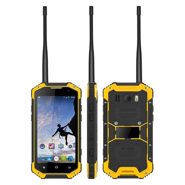 top popular UNIWA W3 4.7 Inch Screen IP68 Waterproof UHF VHF Walkie Talkie Rugged Smartphone with NFC Barometer 2021