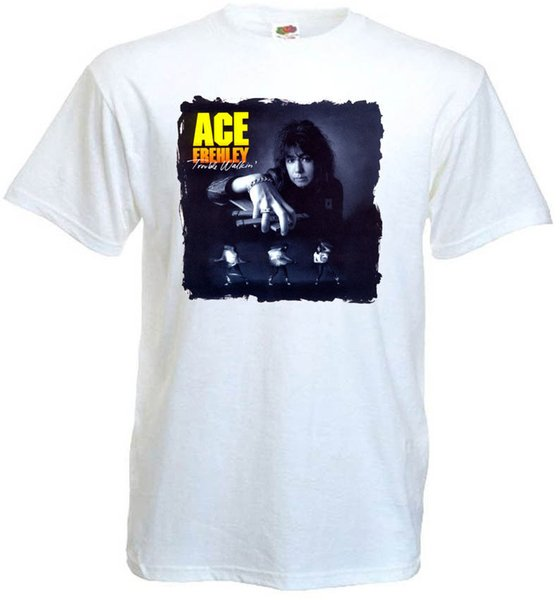 Ace Frehley Trouble Walkin' v10 T-shirt white hard rock all sizes S-5XL Funny free shipping Unisex Casual