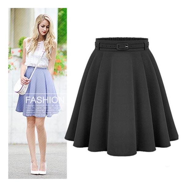 Женские повседневные юбки средней длины до колен Ретро Стильные женские бальные платья с высокой талией Femininas Vintage Women Long Skirt T319052902