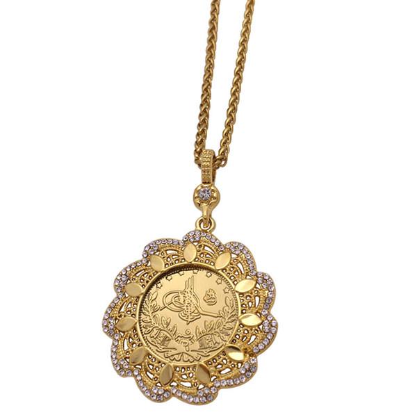 wholesale Turkey Coins islam muslim Ottoman coins Pendant Necklace