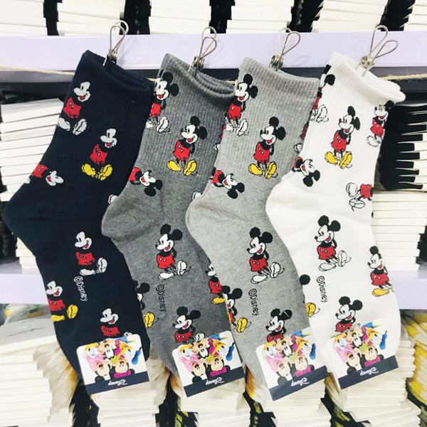 calzini del progettista delle donne calzino nuovo Corea del Sud ha importato i calzini del cotone del fumetto di marea di Dongdaemun del fumetto Nuovo stile
