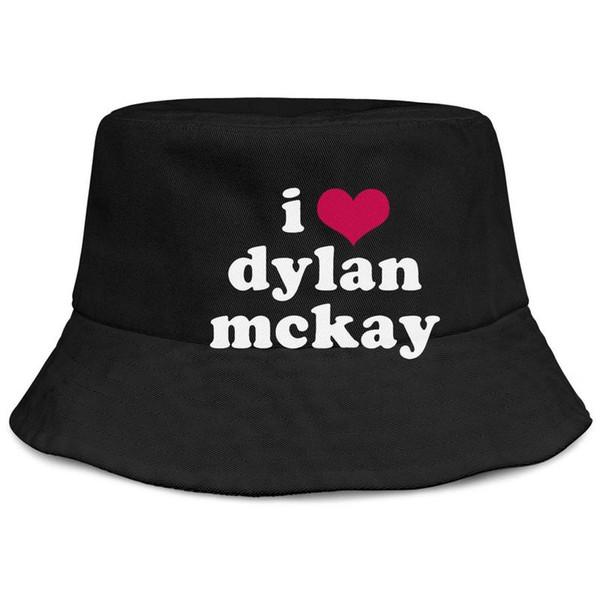 Bob Dylan I Love Dylan hommes et femmes noirs pêche seau chapeau de soleil design design mode personnalisée seau suncap personnalisé