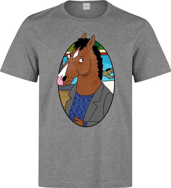 Bojack Horseman portrait art series drôles hommes (femme disponible) t-shirt gris taille discout chaud nouveau tshirt drôle 100% coton t-shirt