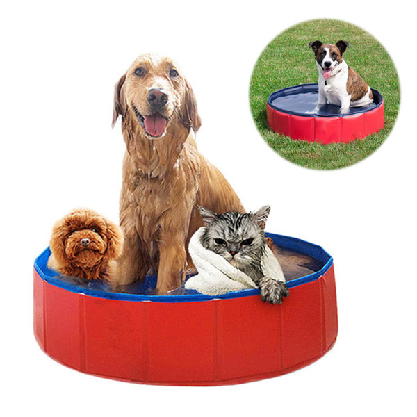 Foldable Dog Pool Pet Bath Swimming Tub Bathtub Outdoor Indoor Collapsible Bathing Pool Large House for Dogs Cats Kids drop ship