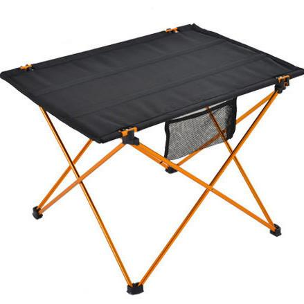 Portable Foldable Table Folding Desk Camping Traveling Outdoor Aluminium Alloy Camping Barbecue Square Table