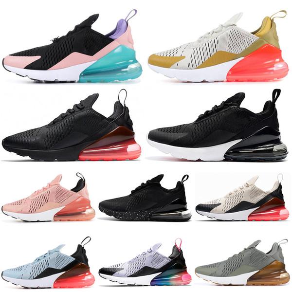 Acheter Nike Air Max 270 Chaussures De Course Noyau Blanc Corail Stardust BARELY ROSE CNY Hommes Runner Chaussures Arc En Ciel Punch Chaud Hommes