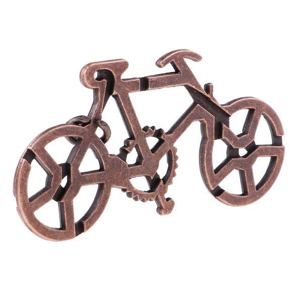 top popular Bicycle Lock Metal Puzzle Brain Teaser Mind Game Toy Steel IQ Test Magic 2021
