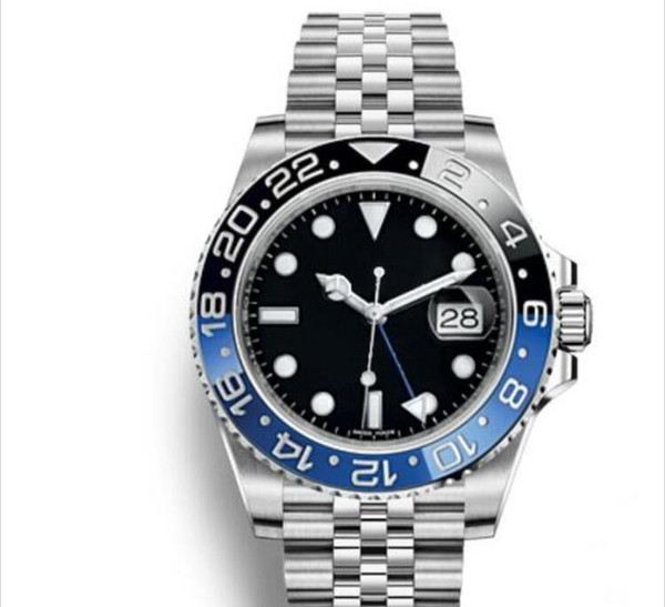 2018 New Modell Luxury Watches Mens GMT Watch Automatic Jubilee Mens Watch Orologio di Lusso Orologi da Uomo Blue Black Wristwatch