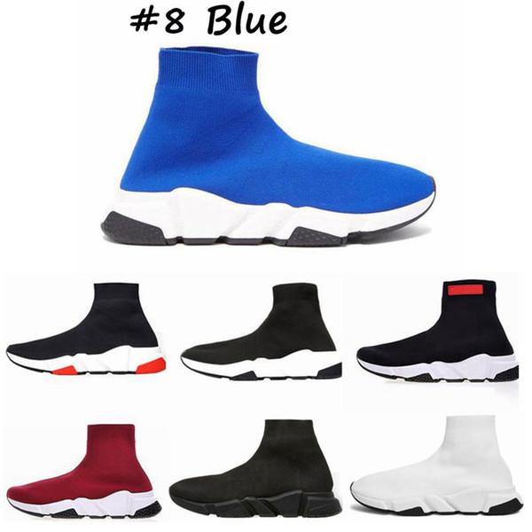 erkekler kadınlara Üçlü siyah beyaz kırmızı iskarpin Moda Sneakers ayak bileği çizme J6 için 2020 Üst Kalite Hız Eğitmen Çorap ayakkabı
