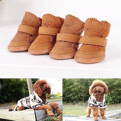 Kış Kaymaz Küçük Köpek Boots Köpek Pet Köpek Koruyucu Kar patikler Ayakkabı